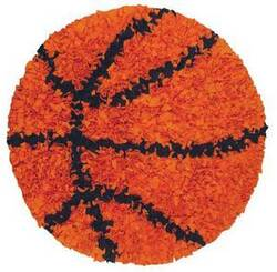 The Rug Market America Kids Shaggy Raggy Basketball 02252 Orange/black Area Rug