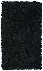 The Rug Market America Kids Shaggy Raggy Black 02256 Black Area Rug
