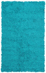 The Rug Market America Kids Shaggy Raggy Teal Teal Area Rug