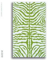 The Rug Market America Resort Zebra Green 25221 Green/white Area Rug