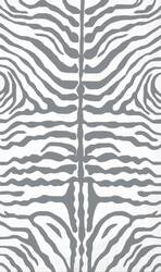 The Rug Market America Resort Zebra Grey 25354 Grey/white Area Rug