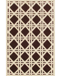 The Rug Market America Resort Cane Brown 25206 Brown/ivory Area Rug