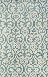 The Rug Market America Julia Wong Designs Elligant Grille Blue Cream/Blue/Green Area Rug