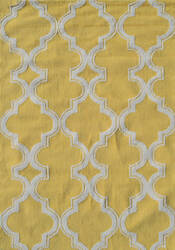 The Rug Market America Pop Accents Jafar Yellow/White Area Rug