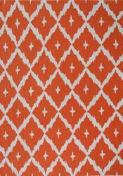 The Rug Market America Pop Accents Tangier Orange/White Area Rug