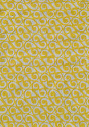 The Rug Market America Pop Accents Yang Yellow/White Area Rug