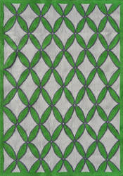 The Rug Market America Pop Accents Diamonds Green/Gray/White Area Rug