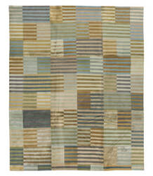 Tufenkian Tibetan Blue/Brown Stripes 8' x 10' Rug