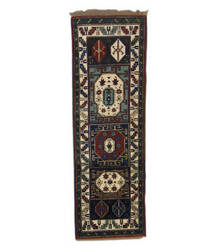 Tufenkian Knotted Green/Blue 3' x 8' Runner Rug