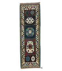 Tufenkian Knotted Forest Green/ Ruby 3' x 8' Runner Rug