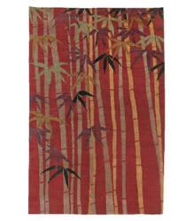 Tufenkian Tibetan Bamboo Forest Ruby Area Rug