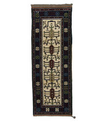 Tufenkian Knotted Ivory/Blue 3' x 8' Runner Rug