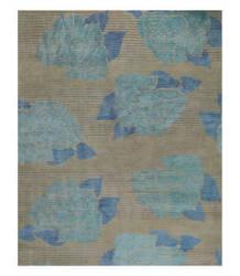 Tufenkian Tibetan Lux Rose Taupe Blue Area Rug