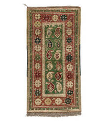 Tufenkian Knotted Green 3' x 7' Runner Rug