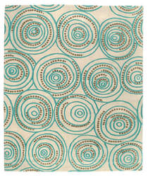 Tufenkian Shakti Ring-A-Ding Blueberry Cream Area Rug