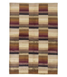 Tufenkian Tibetan Multi Stripe Beige 6' x 9' Rug