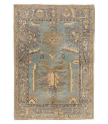 Tufenkian Knotted Light Blue/Brown 5' x 7' Rug