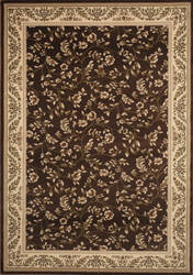 World Rug Gallery Elite 7861 Brown/Floral Area Rug